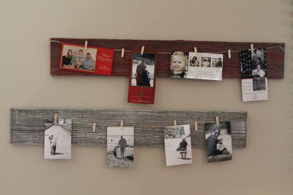 Photo Clothesline Display Reclaimed Barnwood by DuckCreekRustics