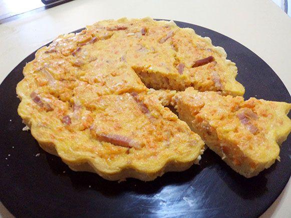A todo varoma · Recetas para Thermomix: Receta de Quiche de zanahorias con bacon con Thermomix