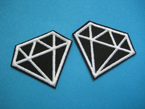 2 piezas en hierro pulgadas apliques bordados diamante 2