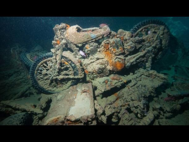 SS Thistlegorm: El barco hundido lleno de autos y motos clásicas