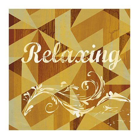 Obraz vintage na płótnie - Relaxing - dostępny w rozmiarach 30x30, 40x40, 45x45, 50x50, 55x55, 60x60 i 70x70 cm #fedkolor #obraz #wydruk #na #płótnie #relaks #relaxing #ozdoba #dekoracja #dla #domu #mieszkania #salon #kuchnia #jadalnia #wypoczynek #inspiracje