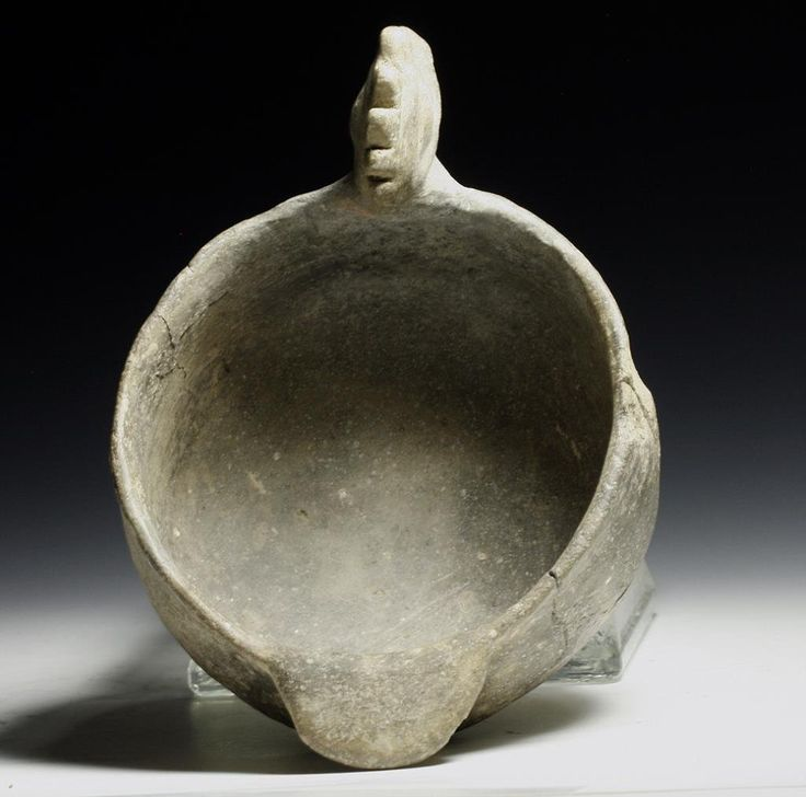 "Lot: Mississippian Mound Builders ""Bird Bowl"", Lot Number: 0236, Starting Bid: $300, Auctioneer: Artemis Gallery, Auction: Ancient / Ethnographic Art Discovery Sale, Date: July 31st, 2013 MSK"