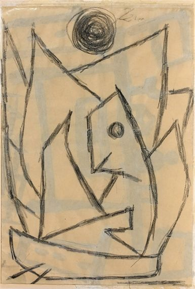 Artwork by Paul Klee, Sans titre (recto/verso), Made of Distemper and pencil on paper (front), chalk and pencil on paper (reverse)1939