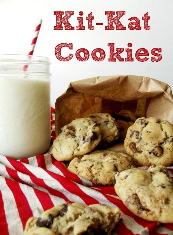 I Could Eat These Up Right Now. Gonna Go Make Me Some Kit-Kat Cookies. Recipe by Life With the Crust Off.