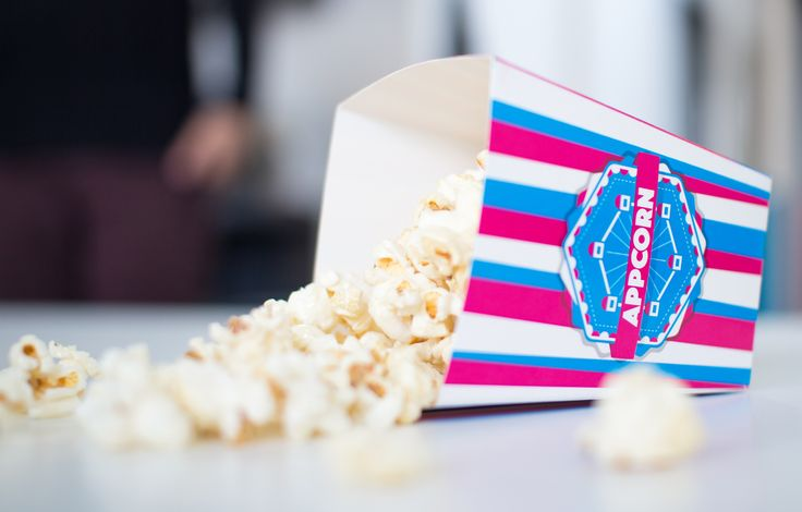 appcorn | summer party | popcorn bag | popcorn | pink cyan | appcom