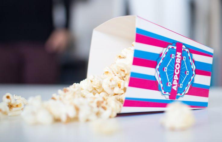 appcorn | summer party | popcorn bag | popcorn | pink cyan | appcom