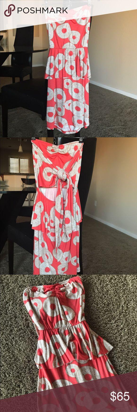 Rachel Pally strapless peplum sun dress Rachel Pally strapless peplum sun dress with open tie back.  So cute, soft and sexy! Worn once. Rachel Pally Dresses