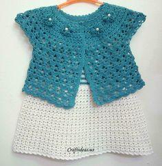 Chaqueta de primavera Crochet - Craft Ideas - Manualidades para niños