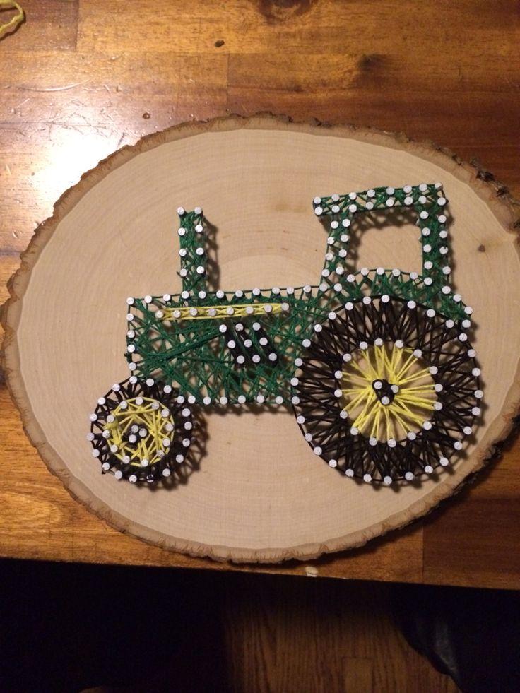 John Deere string art Facebook.com/artisticthreadsbyashley