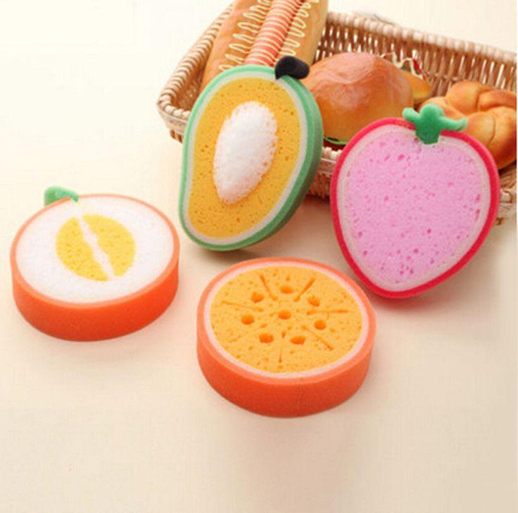 Home Cleaning Wash Dishes Plate Sponges Fruit Shape Sponge Kitchen Tools #Unbranded