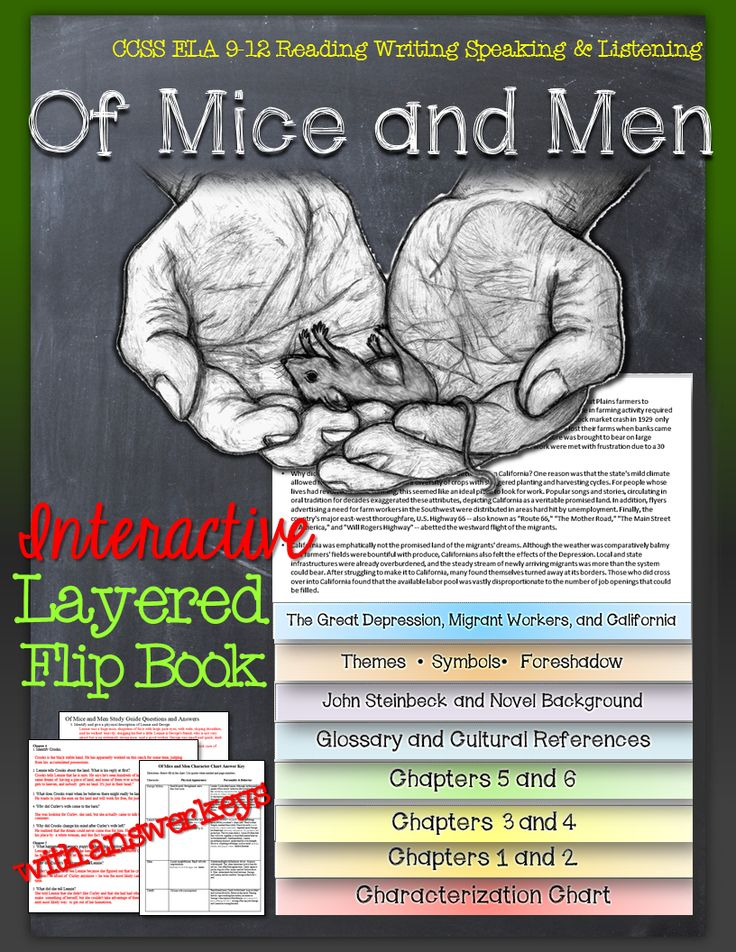 Of Mice and Men: Interactive Layered Flip Book ($)