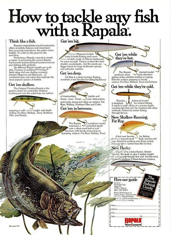 141 best fishing lure color charts and adds images on for Fishing gear list