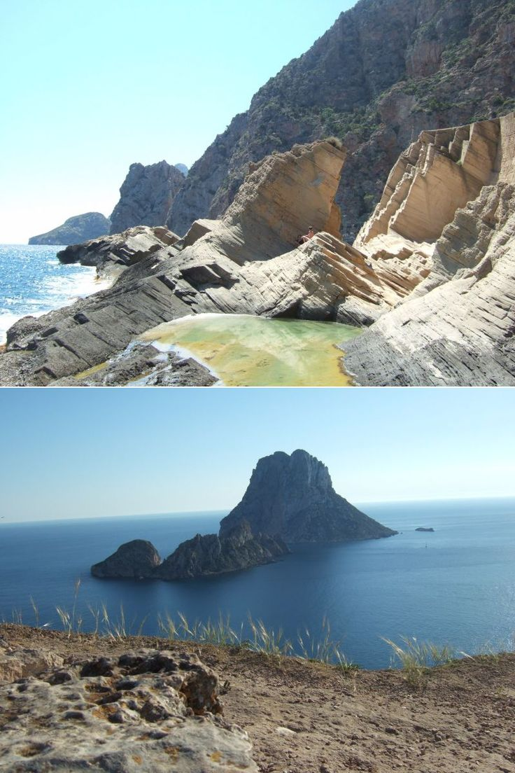 Atlantis/Es Vedra, Ibiza.  My most special place in the whole world is a place known as Atlantis, or the secret beach, in Ibiza. Not many tourists really know about the place, and even less have visited. This is in part down to the inaccessibility of the place, the only path by land is down a very steep and slippery cliff, probably around 300metres long or so.