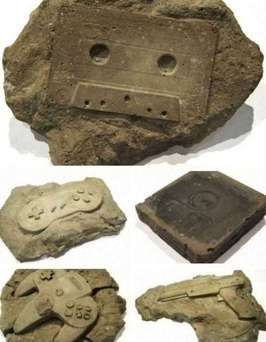 Fossils of a forgotten era... insanely ironic after a science exam that included things about fossils.