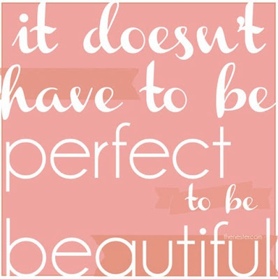 beauty does not mean perfection