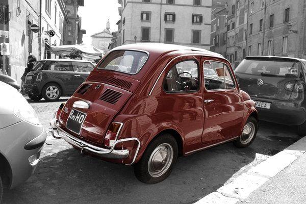 Fiat 500 sépia