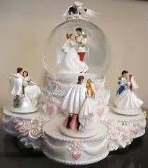 Disney princess wedding cake