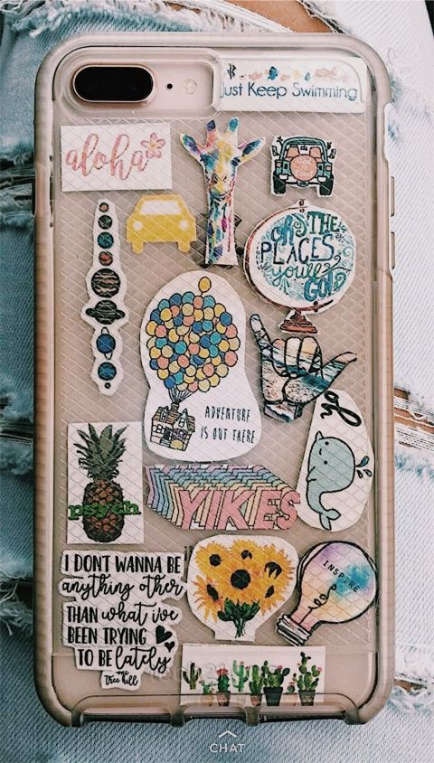 the best attitude 4cf37 892cb Funky stickers on phone case | phone case in 2019 | Tumblr phone ...