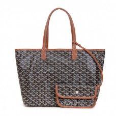 Goyard Saint Louis Tote Bag MM Black With Khaki