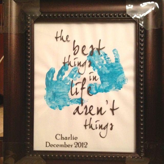 Homemade gifts for grandparents homemade gift from for Homemade gifts from toddlers to grandparents