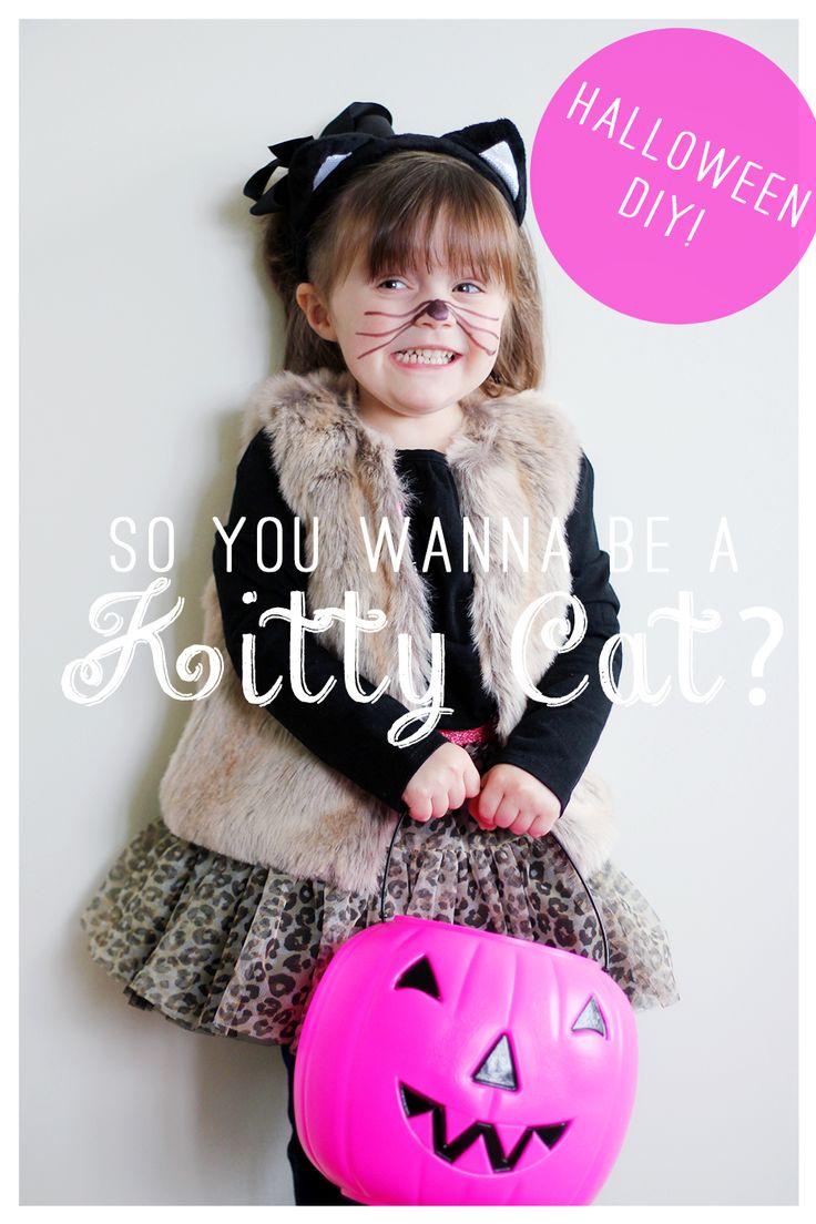 Halloween kitty costume DIY #toddler #halloween #kitty #costume #diy