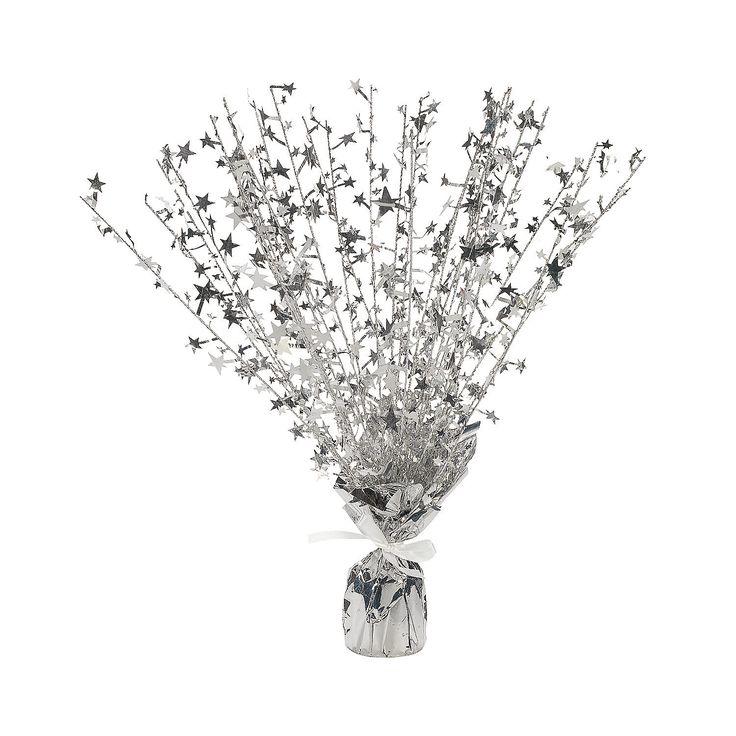 Silver starburst decorations orientaltrading