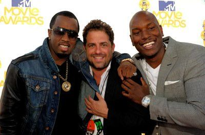 Sean Combs, Brett Ratner, and Tyrese Gibson