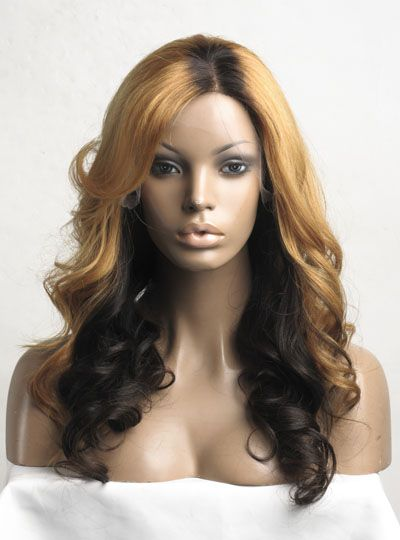 Stock Ombre Color Full Lace Human hair Wig - Wavy - NW001-s [NW001] - $309.99 : Full Lace Wigs|Lace Front Wigs|Lace Wigs @ RPGSHOW