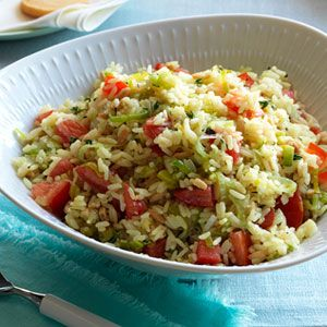 Rice Pilaf with Leeks and Tomatoes - GoodHousekeeping.com