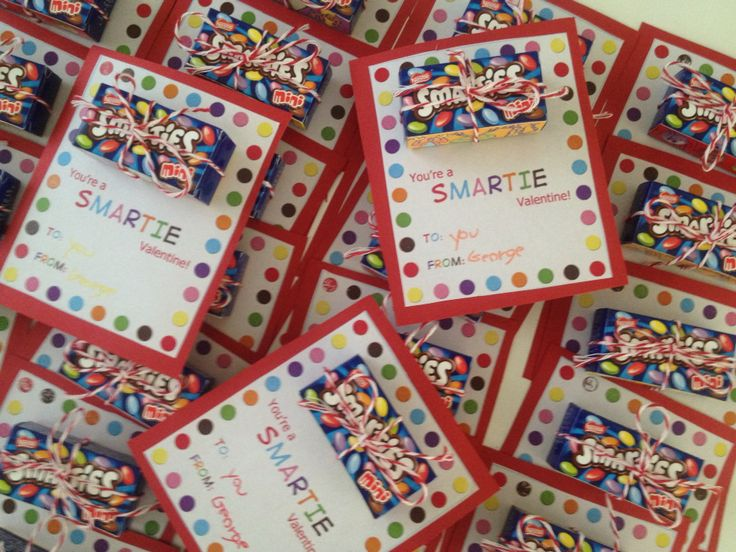 Valentine's Day Gifts for schoolmates Smarties
