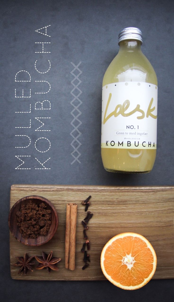 "Læsk mulled kombucha ""gløgg"" - a non-alcoholic mulled wine recipe made with Læsk No. 1 ginger kombucha"
