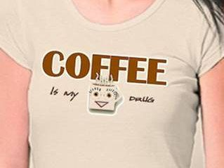 Coffee is my Drug - Funny tshirt for adults, unisex (printable iron-on decal) by DarylArtDigital on Etsy