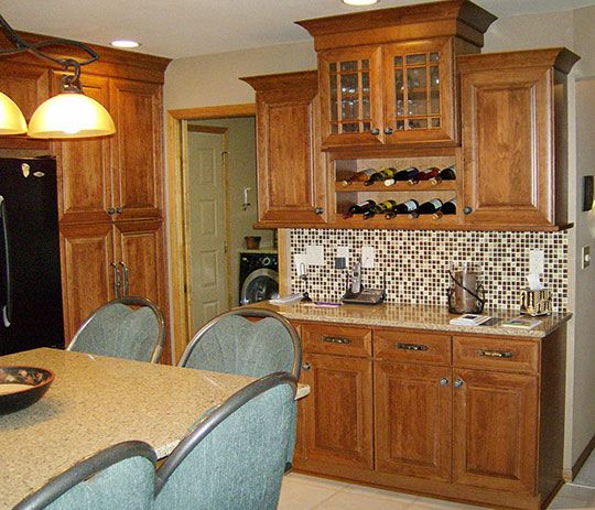 Kitchen Remodel In Plover Wisconsin Designed By Janet Plier With Welling Woodworks Stevens