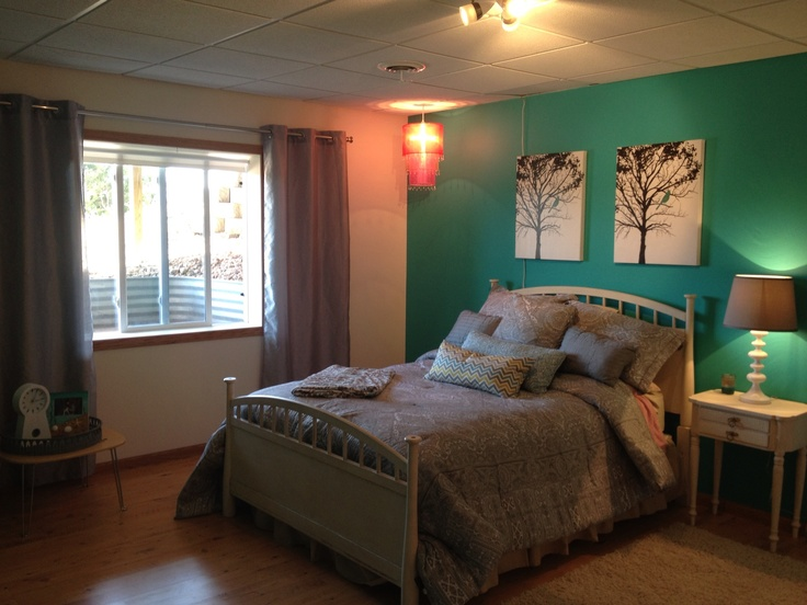 Lake home bedroom with cozumel paint color home love for Split master bedroom