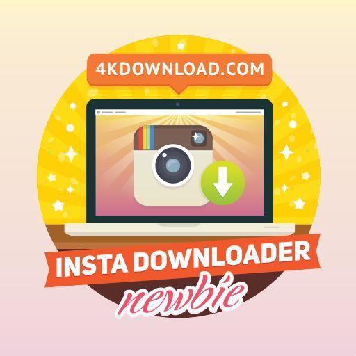 Desbloqueei a conquista Newbie Downloader no 4K Stogram. Fantástico aplicativo para baixar fotos do Instagram.