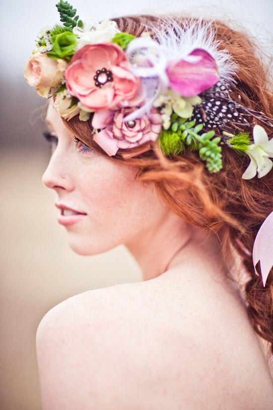 hair wreath by
