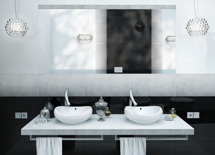 Subtle and elegant bathroom with Opp! floor tiles and Morocco decoration. http://ceramstic.com/pl/opp/