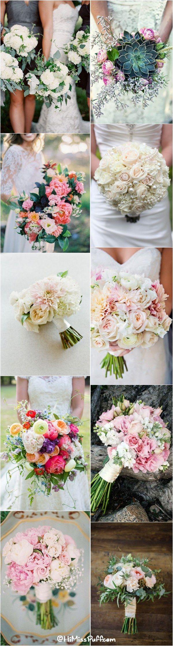 Romantic Spring & Summer Wedding Bouquets / http://www.himisspuff.com/spring-summer-wedding-bouquets/