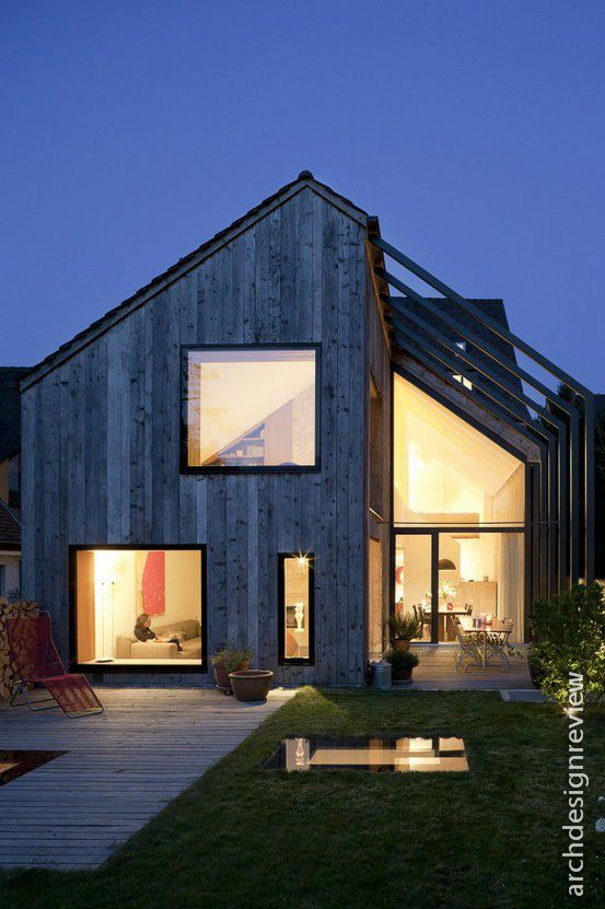 #Exterior #Mass  Architecture and Design: Pitched roofs in modern architecture