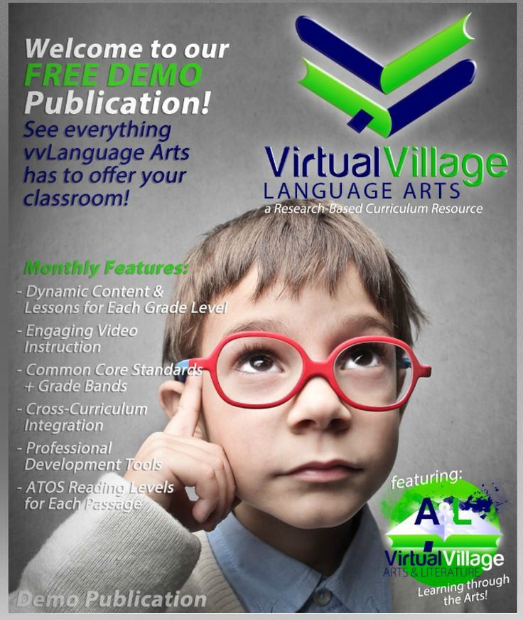 Have you explored our free demo publication for vvLanguage Arts? If not, here is your chance.
