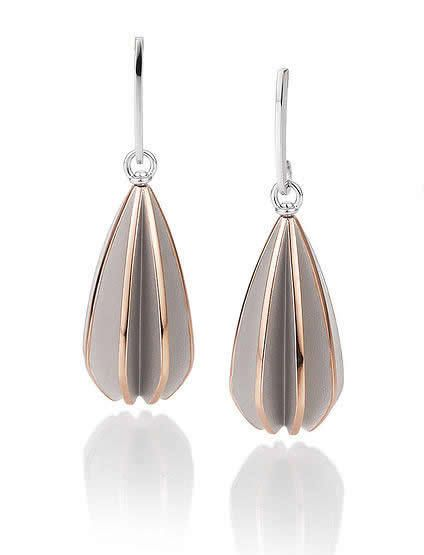 Breuning Jewellery Germany - Drop earrings in Sterling Silver with Rhodium…