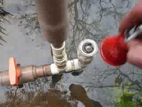 Conheça uma bomba hidraulica caseira eficiente, construída gastando muito pouco, bomba dagua - YouTube