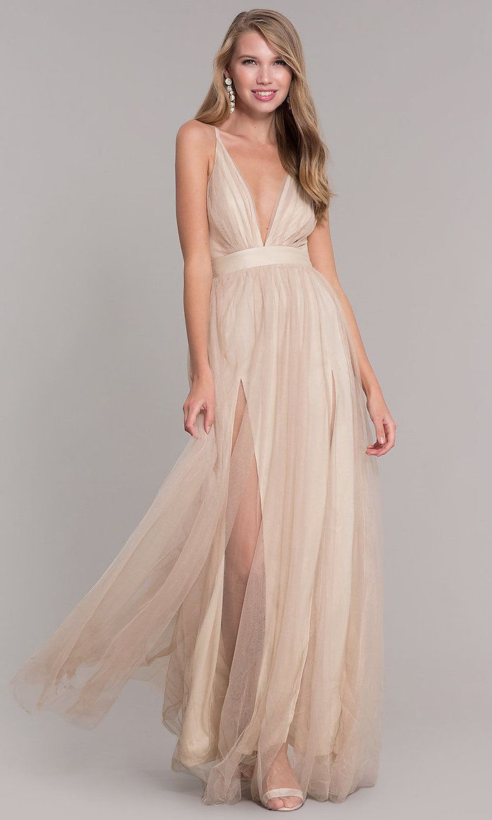 HULKY Womens Wedding Dress Lace Pleated Chiffon Sequin Solid Sleeveless Long Party Elegant Gown Flowy Evening Dresses