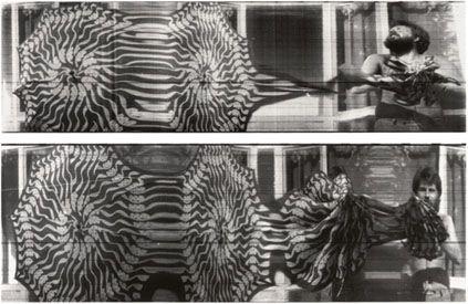 """Paolo Gioli """"Storia dell'apertura di un ombrello"""", 1975, fotofinish, stampa bianco e nero, misure variabili"""