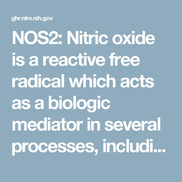 NOS2: Nitric oxide is a reactive free radical which acts as a biologic mediator in several processes, including neurotransmission and antimicrobial and antitumoral activities. This gene encodes a nitric oxide synthase which is expressed in liver and is inducible by a combination of lipopolysaccharide and certain cytokines.