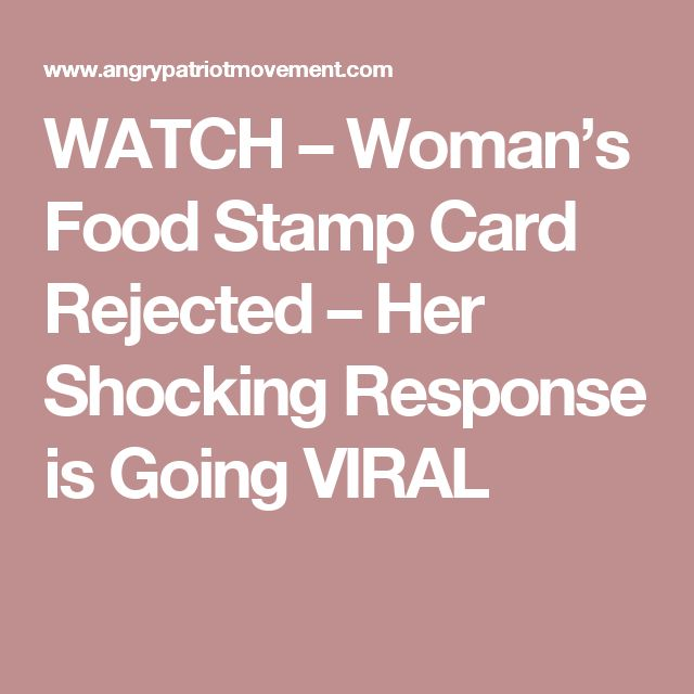 WATCH – Woman's Food Stamp Card Rejected – Her Shocking Response is Going VIRAL