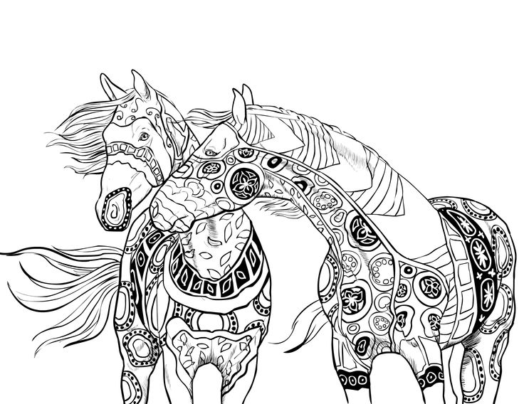 47 best images about horse coloring pages on pinterest Colouring books for adults big w
