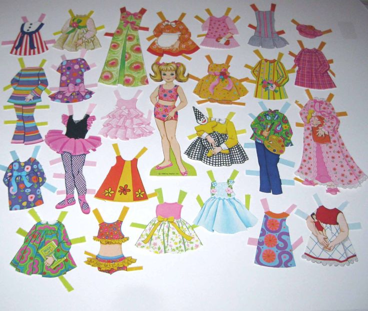 paper dolls from the 1960's | Vintage 1960s Mattel Dawn Paper Doll and by grandmothersattic