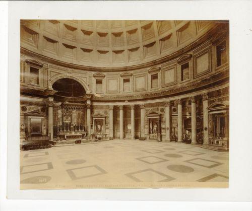 Anonyme-Italie-Roma-Interno-del-Panteon-D-039-Agrippa-Tirage-albumine-Vin