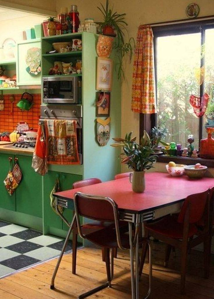 decor decorating bohemian retro kitchen decoration cabin farmhouse